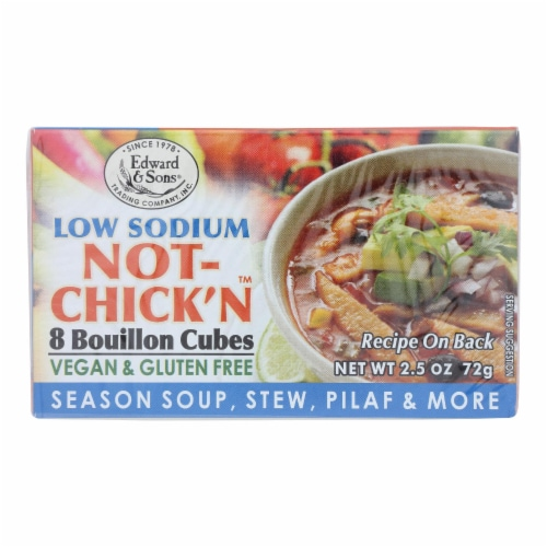 Edwards and Sons Natural Bouillon Cubes - Not Chick n - Low Sodium - 2.5 oz - Case of 12 Perspective: front