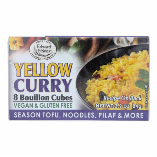 Edward & Sons - Bouillon Cubes Curry Yellow - Case of 12-2.9 OZ Perspective: front