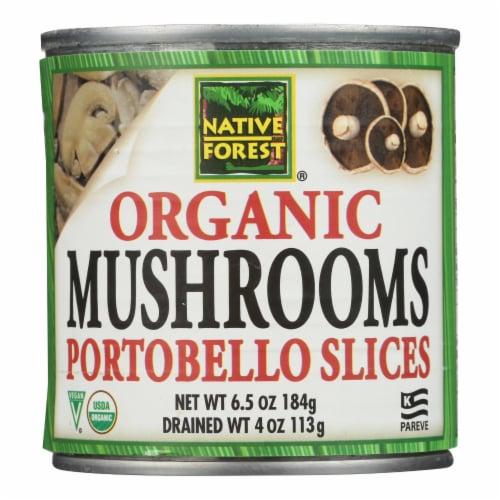 Native Forest Organic Sliced Portobello - Mushrooms - Case of 12 - 4 oz. Perspective: front