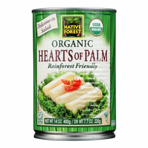 Native Forest Organic Hearts - Palm - Case of 12 - 14 oz. Perspective: front