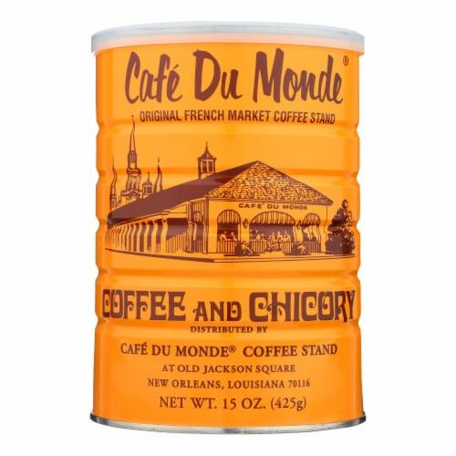 Cafe Du Monde - Coffee - Regular - Case of 12 - 15 oz Perspective: front