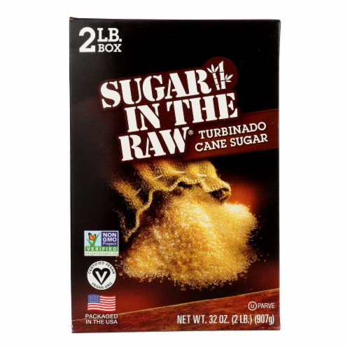 Sugar In The Raw Turbinado Sugar - Case of 12 - 2 lb. Perspective: front