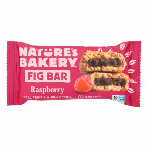 Nature's Bakery Stone Ground Whole Wheat Fig Bar - Raspberry - 2 oz - Case of 12 Perspective: front