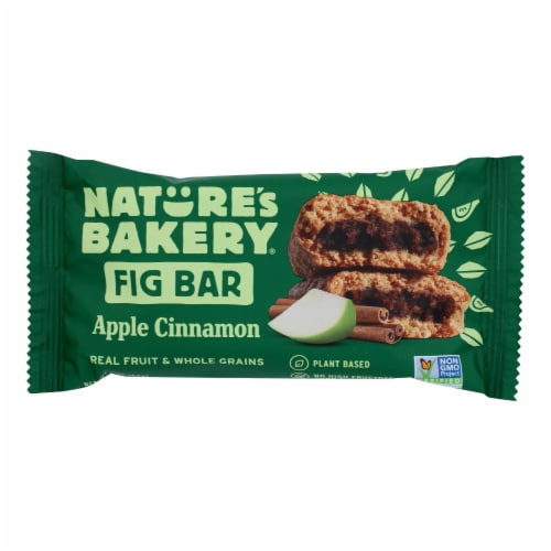 Nature's Bakery Stone Ground Whole Wheat Fig Bar - Apple Cinnamon - Case of 12 - 2 oz. Perspective: front
