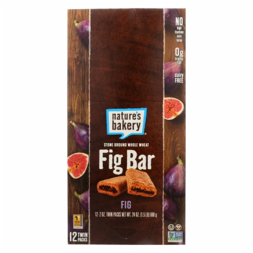 Nature's Bakery Stone Ground Whole Wheat Fig Bar - Original - Case of 12 - 2 oz. Perspective: front