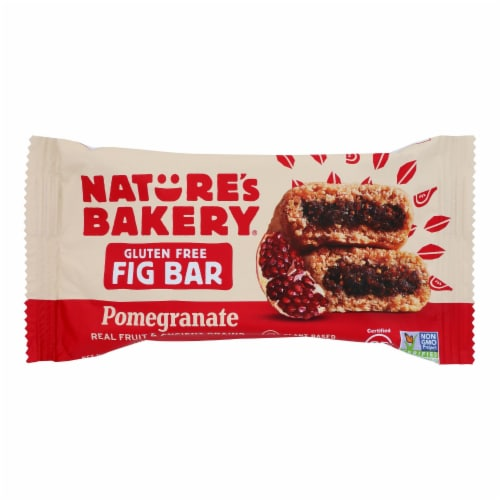 Nature's Bakery Gluten Free Fig Bar - Pomegranite - Case of 12 - 2 oz. Perspective: front