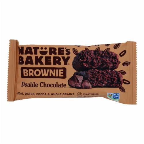 Nature's Bakery Double Chocolate Brownies - Chocolate - Case of 12 - 2 oz. Perspective: front