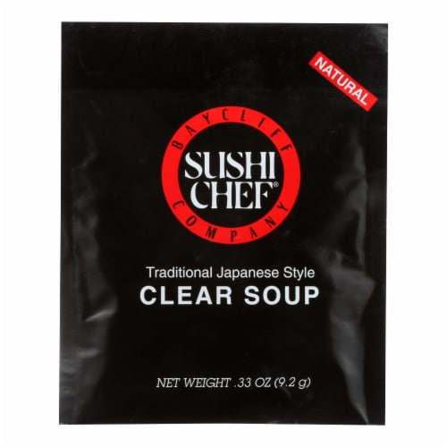 Sushi Chef Soup Mix - Clear - Traditional Japanese Stye - .33 oz - Case of 12 Perspective: front