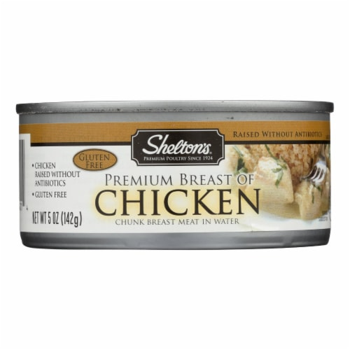 Shelton's Poultry Premium Breast of Chicken - Case of 12 - 5 oz. Perspective: front