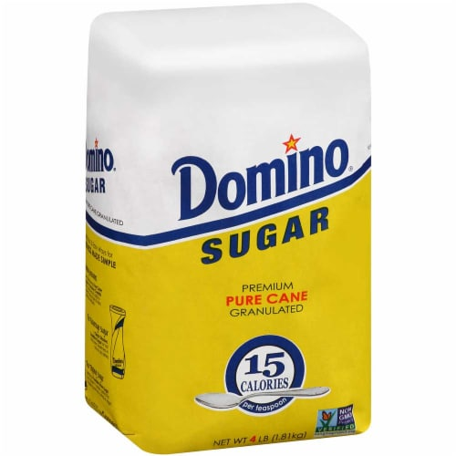Domino Granulated Sugar, 10 Pound Bag -- 4 per case. Perspective: front