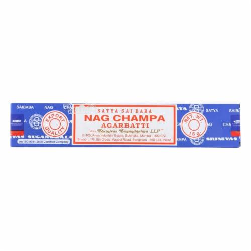 Sai Baba Nag Champa Agarbatti Incense - 15 g - Case of 12 Perspective: front