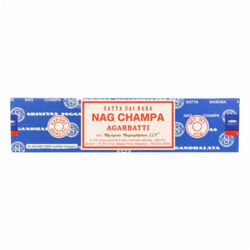 Sai Baba Nag Champa Agarbatti Incense - 40 g - Case of 12 Perspective: front