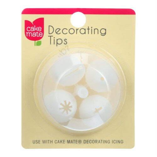 Cake Mate - Plastic Decorating Tips - 4 Count - Case of 12 Perspective: front