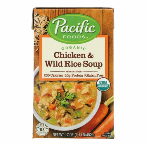 Pacific Natural Foods - Soup Chicken Wild Rice - Case of 12-17 OZ Perspective: front