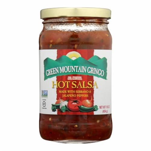 Green Mountain Gringo Hot Salsa - Case of 12 - 16 oz. Perspective: front