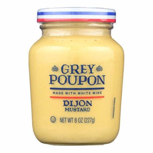 Grey Poupon Mustard Dijon - Case of 12 - 8 oz Perspective: front
