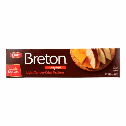 Breton/Dare - Crackers - Original - Case of 12 - 8 oz. Perspective: front