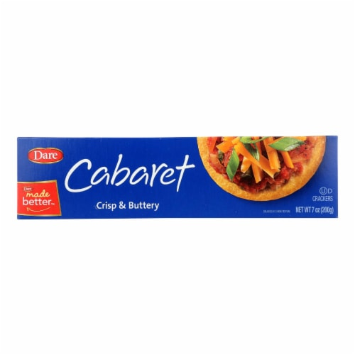 Breton/Dare - Cabaret Crackers - Buttery Original - Case of 12 - 7 oz. Perspective: front