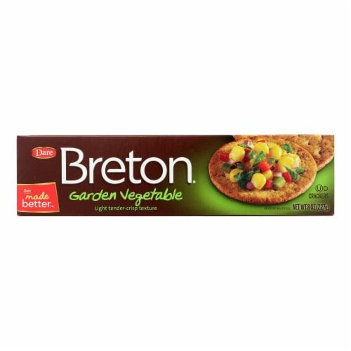Breton/Dare - Crackers - Garden Vegetable - Case of 12 - 8 oz. Perspective: front