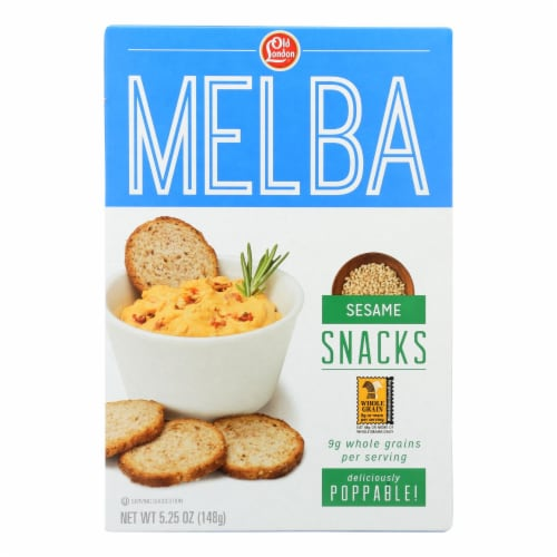 Old London - Melba Snacks - Sesame - Case of 12 - 5.25 oz. Perspective: front