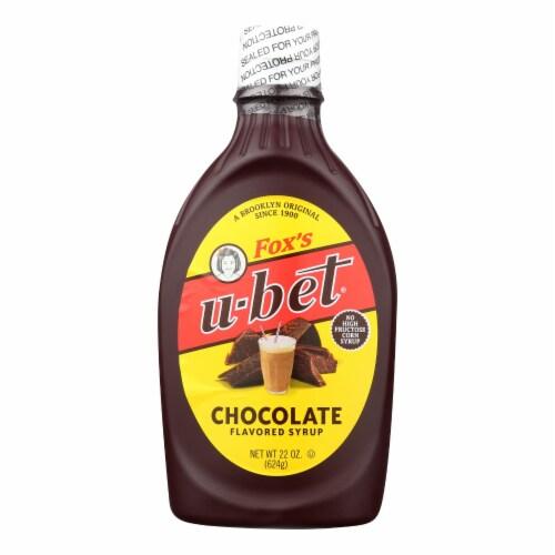 Fox's U - Bet U - Bet Chocolate Syrup - U - Bet Chocolate - Case of 12 - 22 oz. Perspective: front