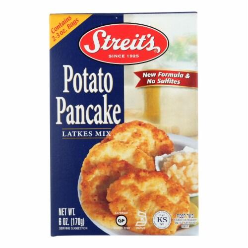 Streit's Pancake Mix - Potato - Case of 12 - 6 oz. Perspective: front