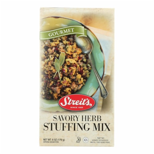 Streit's - Stuffing Mix Herb - Case of 12 - 6 OZ Perspective: front