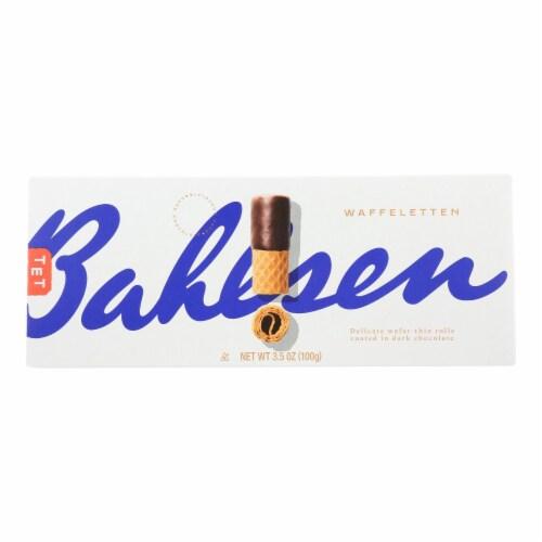 Bahlsen Waffeletten Dark Chocolate Rolls - Case of 12 - 3.5 oz. Perspective: front