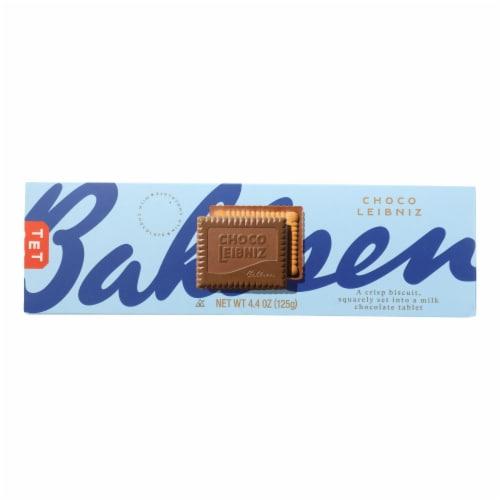 Bahlsen Leibniz Milk Chocolate Cookies - Case of 12 - 4.4 oz. Perspective: front