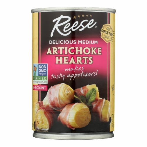 Reese Artichoke Hearts - Delicious Medium - Case of 12 - 14 oz. Perspective: front