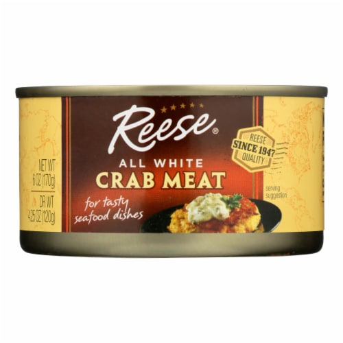 Reese Crabmeat - All White - Case of 12 - 6 oz Perspective: front