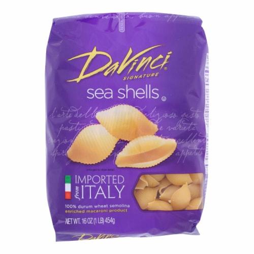 DaVinci - Sea Shells Pasta - Case of 12 - 1 lb. Perspective: front