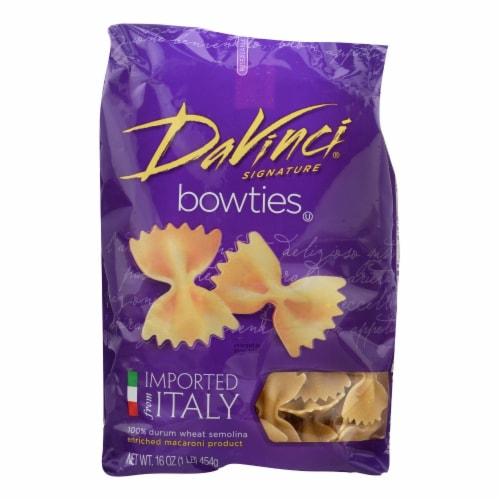 DaVinci - Bowties Pasta - Case of 12 - 1 lb. Perspective: front
