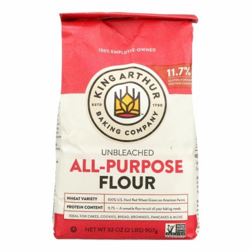 King Arthur Unbleached Flour - Case of 12 - 2 Perspective: front