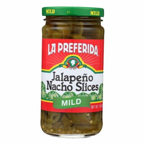 La Preferida Jalapeno Nacho Slices - Case of 12 - 11.5 OZ Perspective: front