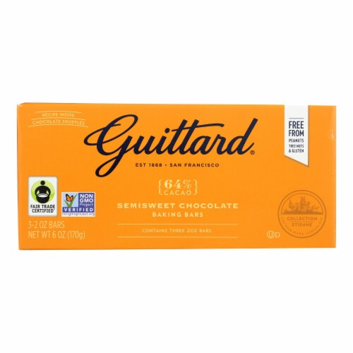 Guittard Chocolate Semisweet Chocolate - Baking - Case of 12 - 2 oz. Perspective: front