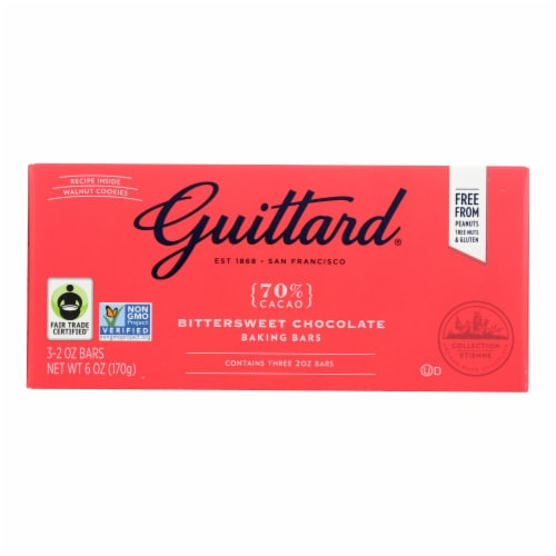 Guittard Chocolate Variety Mix - Unsweetened Bittersweet and Semisweet - Case of 12 - 2 oz. Perspective: front