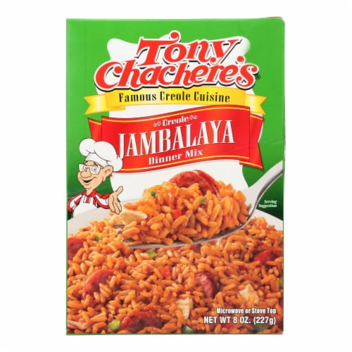 Tony Chachere's Famous Creole Cuisine Creole Jambalaya Dinner Mix  - Case of 12 - 8 OZ Perspective: front