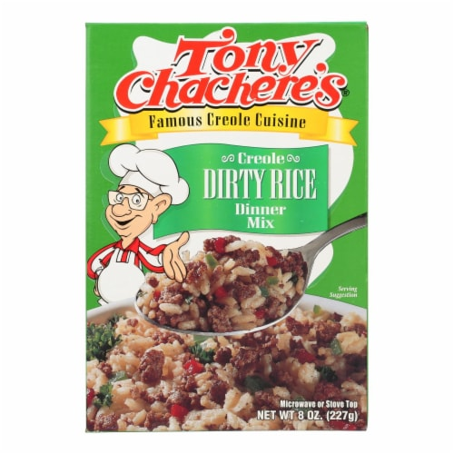 Tony Chachere's Creole Dirty Rice Dinner Mix - Case of 12 - 8 OZ Perspective: front