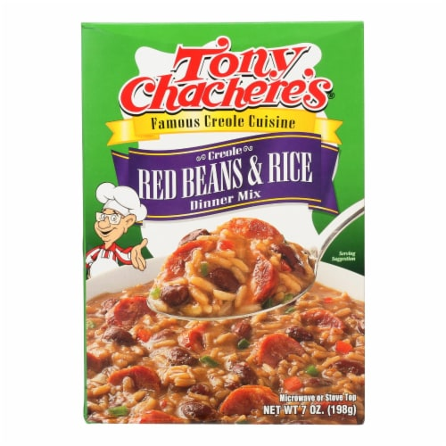 Tony Chachere's - Dinner Rice & Bean - Case of 12 - 7 OZ Perspective: front