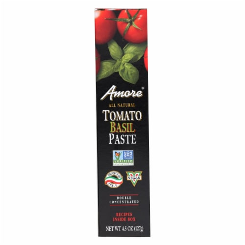 Amore - Tomato Basil Paste - Case of 12 - 4.5 oz Perspective: front