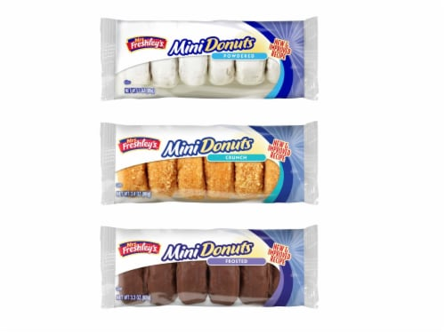 Mrs Freshleys Variety Mini Donuts - 72 per pack -- 1 each. Perspective: front