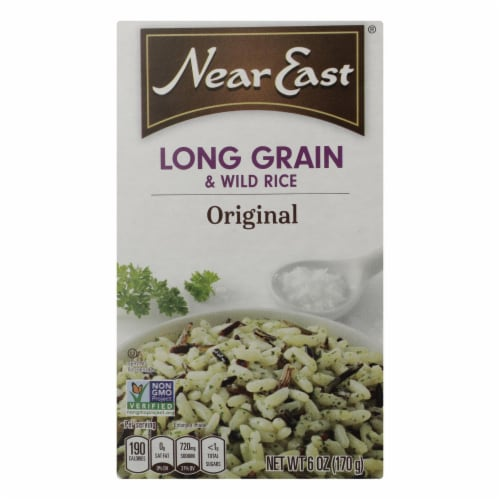 Near East Rice Pilaf Mix - Long Grain and Wild Rice - Case of 12 - 6 oz. Perspective: front