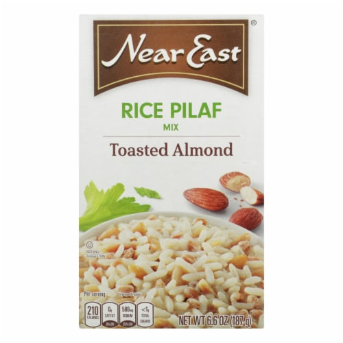 Near East Rice Pilaf Mix - Toasted Almond - Case of 12 - 6.6 oz. Perspective: front