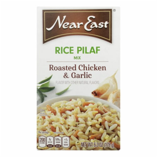 Near East Rice Pilaf Mix - Chicken and Garlic - Case of 12 - 6.3 oz. Perspective: front