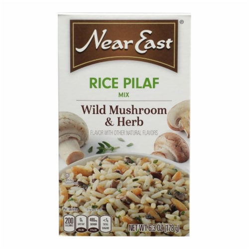 Near East Rice Pilaf Mix - Mushrooms and Herbs - Case of 12 - 6.3 oz. Perspective: front