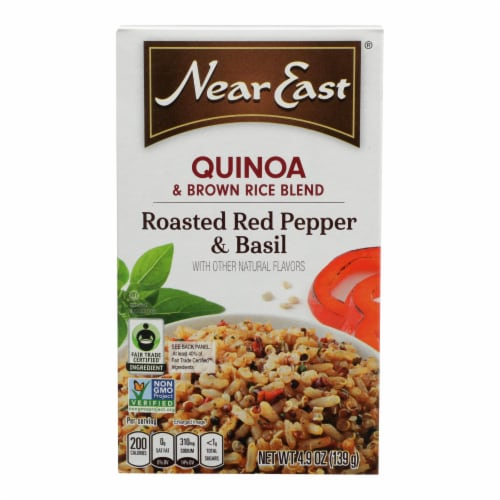 Near East Quinoa Blend - Roasted Red Pepper and Basi - Case of 12 - 4.9 oz. Perspective: front
