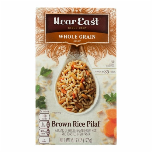 Near East Pilaf Brown Rice - Brown - Case of 12 - 6.17 oz. Perspective: front