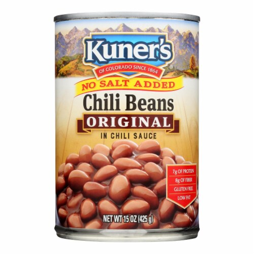 Kuner No Salt Added Chili Beans In Chili Sauce - Case of 12 - 15 OZ Perspective: front