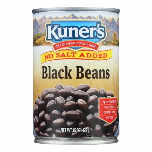 Kuner - Black Beans - No Salt Added - Case of 12 - 15 oz. Perspective: front